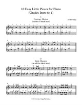 10 Easy Little Pieces for Piano (Grades Intro to 1)