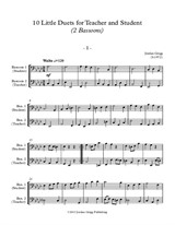 10 Little Duets for Teacher and Student (2 Bassoons)