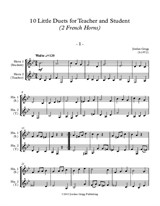 10 Little Duets for Teacher and Student (2 French Horns)
