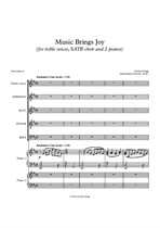 Music Brings Joy (for treble voices, SATB choir and 2 pianos)