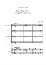 Flashy Tango No.3 (sax quartet and piano)