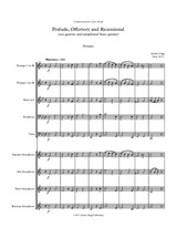 Prelude, Offertory and Recessional (sax quartet and antiphonal brass quintet)