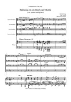 Fantasia on an American Theme (sax quartet and piano) Revised